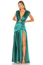 Bronx and Banco Romi Emerald Gown in Emerald