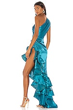 Bronx and Banco Monica Gown in Turquoise