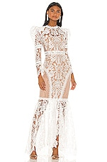 Bronx and Banco Barocco Gown in White