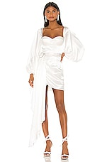 Bronx and Banco Lana Bridal Mini Dress in White