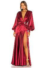 Bronx and Banco Carmen Gown in Maroon