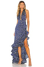 Bronx and Banco Bronte Navy Maxi Dress in Navy
