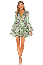 Bronx and Banco Bedouin Mini Dress in Green