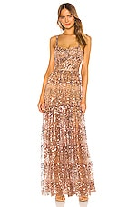 Bronx and Banco Runway Midnight Gown in Gold