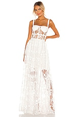 Bronx and Banco Scarlett Maxi Dress in White