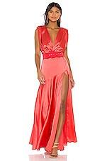 Bronx and Banco Carmen Orange Maxi Dress in Orange
