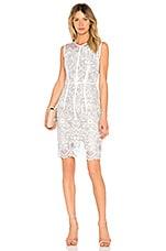 Bronx and Banco Venice Midi Dress in Blue & White
