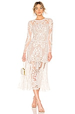 Bronx and Banco Boho Bridal Gown in White