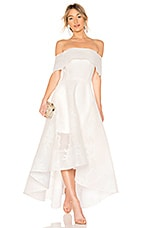 Bronx and Banco Tulip Lace Gown in White