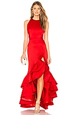 Bronx and Banco Frida Flame Gown in Red
