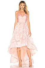 Bronx and Banco Alexia Gown in Blush & Gold