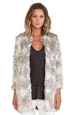 BSABLE Stella Faux Fur Jacket in Special Beige