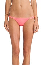 Sports Illustrated Heart Bikini Bottom in Neon Flame