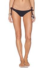 Strappy Side Tie Bikini Bottom in Black