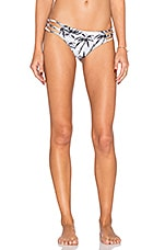 Strappy Cheeky Bikini Bottom in Palm Print