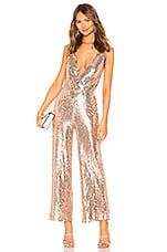superdown Brandy Wide Leg Jumpsuit in Rose Gold