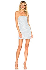 superdown Charlize Lace Strapless Dress in Light Blue