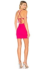 superdown Ashley Strappy Mini Dress in Hot Pink