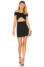 superdown Hallie Cut Out Mini in Black