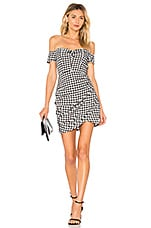 by the way. Roselyn Gingham Off Shoulder Dress in Black & White