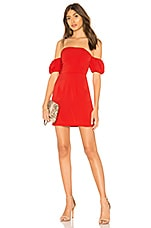 by the way. Clarissa Off Shoulder Dress in Red