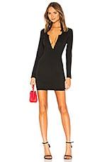 superdown Emmy Deep V Mini Dress in Black