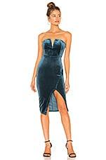 superdown Beatrice Velvet Tube Mini Dress in Teal