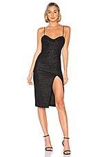 by the way. Tove Bustier Slit Dress in Black Leopard