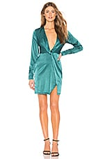 by the way. Leon Plunge Knot Dress in Teal