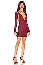 by the way. Azalia Cut Out Dress in Wine Red