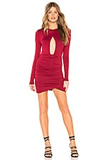 by the way. Lisette Ruched Cut Out Dress in Wine Red