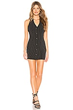 by the way. Ruby Halter Mini Dress in Black