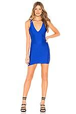 by the way. Rashelle Deep V Mini Dress in Cobalt Blue