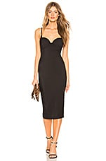 by the way. Stacy Midi Dress in Black