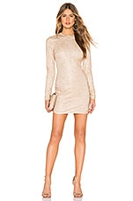 superdown Evie Sparkle Mini Dress in Gold