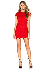 by the way. Janette Lace Mini Dress in Red