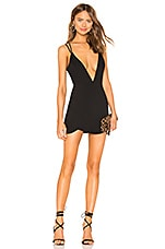 superdown Joey Double Strap Mini Dress in Black