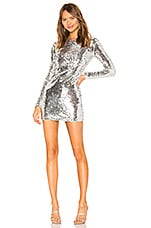 superdown Shayla Sequin Dress in Silver