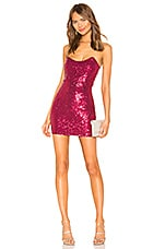 superdown Stevie Sweetheart Mini Dress in Pink Sequin