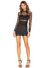 superdown Destinee Floral Lace Dress in Black