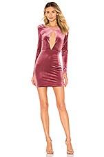 by the way. Noelle Cross Back Velvet Mini Dress in Mauve