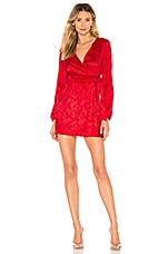 by the way. Camila Floral Jacquard Mini Dress in Red