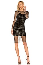 by the way. Jaymee Mesh Lurex Midi Dress in Black & Gold