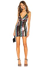 by the way. Octavia Strappy Back Dress in Multi Sequin