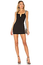 superdown Cici Square Neck Mini Dress in Black