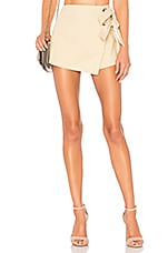 superdown Alaya Grommet Wrap Skort in Natural