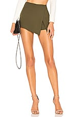 superdown Alyssa Wrap Skort in Olive