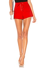 by the way. Chiara Lace Up Short in Red