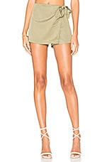 Trina Wrap Skort in Army