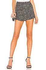 by the way. Berlin Tweed Wrap Skort in Black Multi